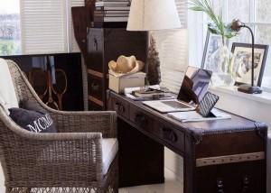 Artwood läderskrivbord